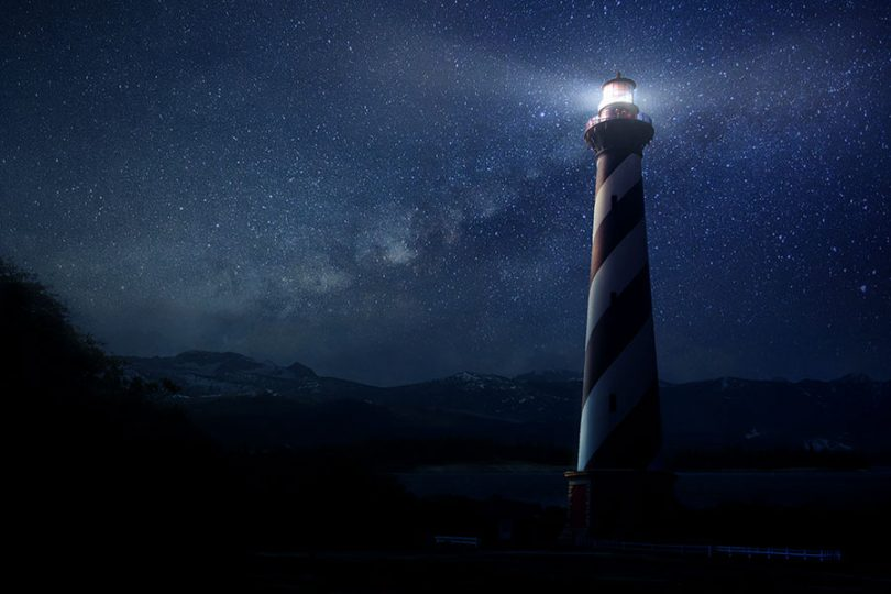 light-house-and-night-sky