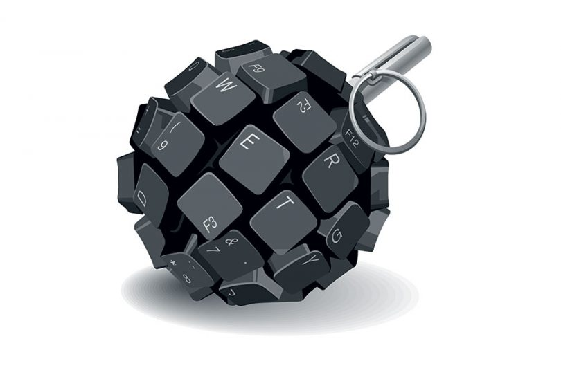 keyboard-keys-in-shape-of-grenade