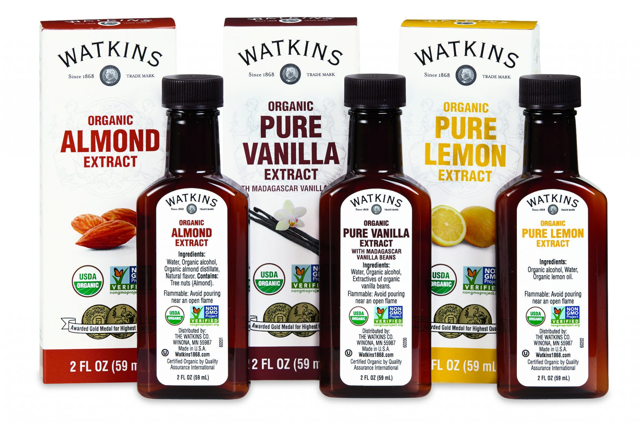 Watkins-almond-vanilla-and-lemon-extracts